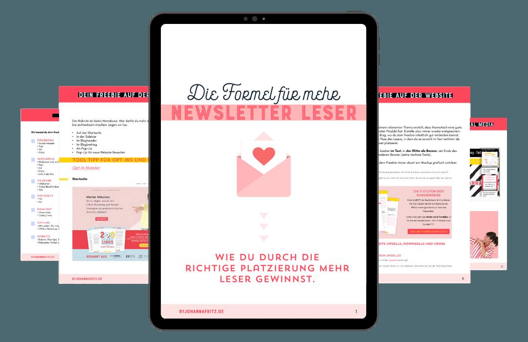 Freebie: Mehr Newsletter Leser